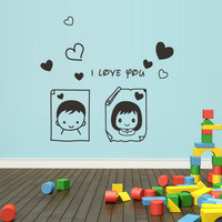 rvz1307 Wall Decal Vinyl Sticker Decals I Love You Boy Girl Nursery