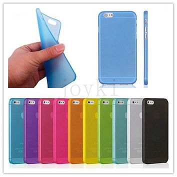 Ultra Thin Slim Matte Frosted Clear Transparent Soft Cover Case for iPhone 4 4s 5 5s se 6 6s 6 plus 7 7 plus