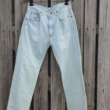 Vtg WRANGLER Faded Denim Jeans Men's 34 x 32 (Actual 32 x 32) USA MADE