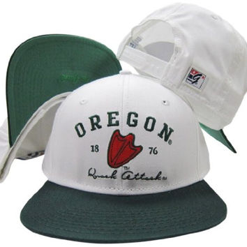 Oregon Ducks Quack Attack Snapback Adjustable Plastic Snap Back Hat / Cap