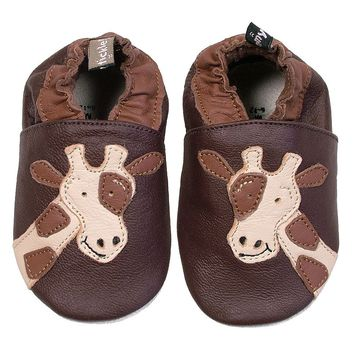 Tommy Tickle Giraffe Shoes - Baby (Brown)