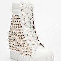 Urban Outfitters - Jeffrey Campbell Plaster Pyramid-Stud Platform Boot