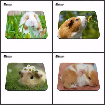 Animal Cute Guinea Pig Game Vintage Stylish Mouse Pad Gaming Rectangle Mousepad 22x18cm And 25x20cm And 25x29cm  As Boys Gift