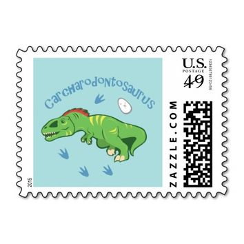 Cute Carcharodontosaurus Postage Stamps