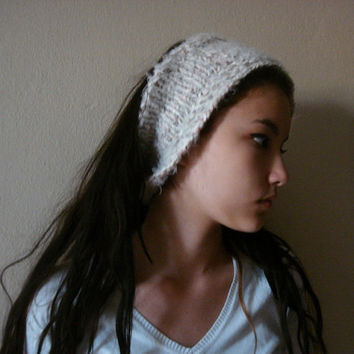Chunky Cowl Convertible Headband ,Soft handmade knit cowl, Knit Fashion. Ear Warmer