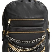 Ash 'Domino' Chain Leather Backpack