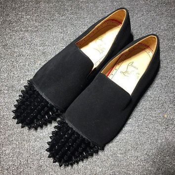DCCK Cl Christian Louboutin Loafer Style #2336 Sneakers Fashion Shoes