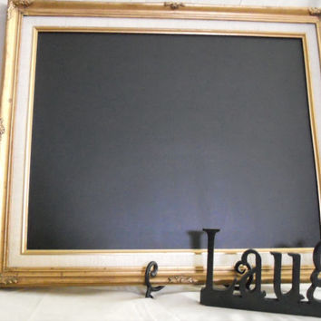 Ornate, Vintage, Large Framed Chalkboard. Big Framed chalk board, kitchen menu board, restaurant, upcylcled chalkboard , picture frame