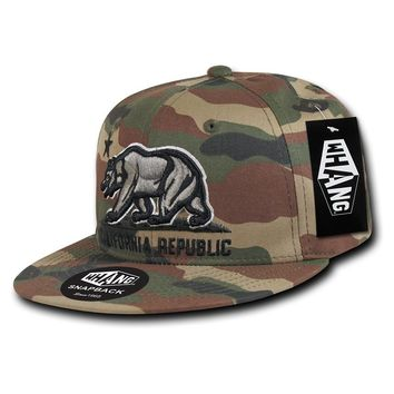 WOODLAND CAMO CALIFORNIA REPUBLIC SNAPBACK HAT BY WHANG