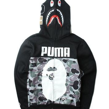 Puma&shark Fashion Men Hats Double Sided Jacket