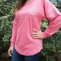 Embroidered Pom-Pom Jersey. Great shirt. Cute gift. Add initials or Sorority