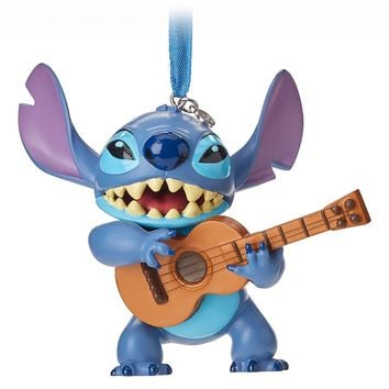 Disney 2018 Stitch with Guitar Sketchbook Christmas Ornament New with Tag