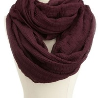 Solid Textured Infinity Scarf: Charlotte Russe