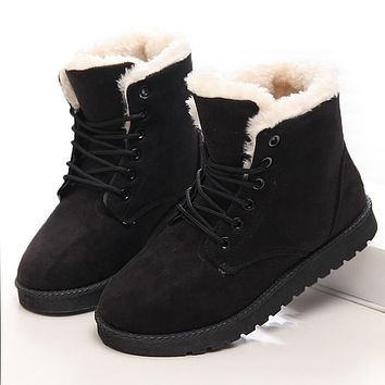1a1acca519 Women Boots Winter Super Warm Snow Boots Women Suede Ankle Boots