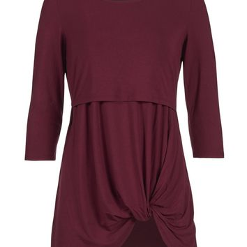 Twisted Hem Bamboo Nursing Tunic