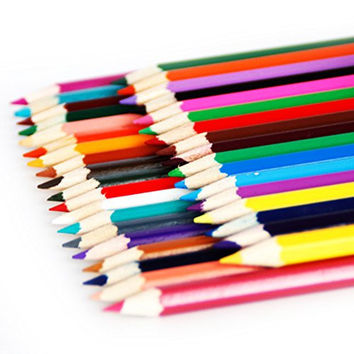 LEFV™ Set of 36 Colored Pencil Sketch Draw Set Drawing and Sketching Art Coloring Book Wood Charcoal Pencils for Premier Proffessional User - Assorted Colors