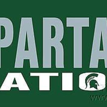 Michigan State Spartans NATION SD Deluxe Laser Cut License Plate Tag University