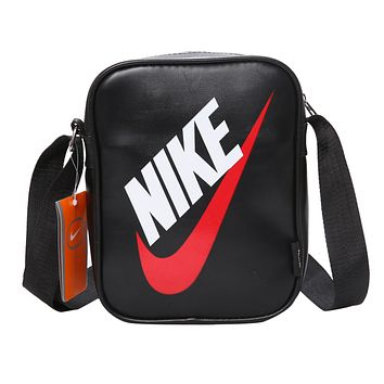 NIKE Fashion Men Women Print Shoulder Bag Crossbody Bag Satchel Black