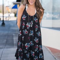 Spring Into Action Dress, Black