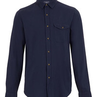 Indigo Flannel Long Sleeve Shirt