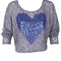 Cobalt Heart Long-Sleeve