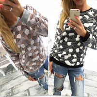 Long Sleeve Winter Comfy Cotton 4 colors Tops [8979566724]