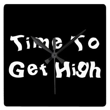 Time To Get High Smokers Clock