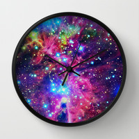 Astral Nebula Wall Clock by Starstuff