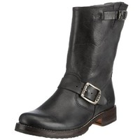 FRYE Women's Veronica Short Boot, Black Tumbled Full Grain, 5.5 M US