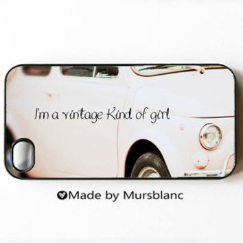 Iphone 4 Case I'm a Vintage kind of girl Paris by HipsterCases