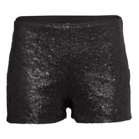 H&M Sequined shorts £14.99