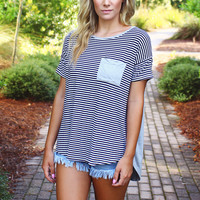 Two Tone Pocket Tee