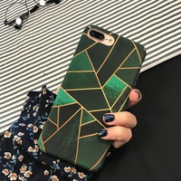 SZYHOME Phone Cases Simple Geometry for IPhone 6 6s 7 Plus Case Celebrity Fashion for IPhone X Frosted Mobile Phone Cover Capa