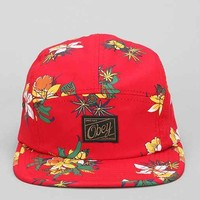 OBEY Sativa Floral 5-Panel Hat- Red One
