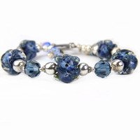 Denim Blue Sterling Silver Bracelet Christmas Holiday Gift:  A Day in Denali National Park
