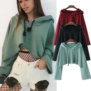 PEAPX2 Ladies Hoodies Crop Top Sweatshirts [256901021722]