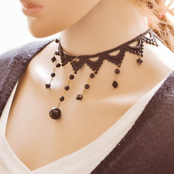 Shiny New Arrival Jewelry Gift Stylish Ladies Vintage Lace Innovative Accessory Necklace [7587088775]