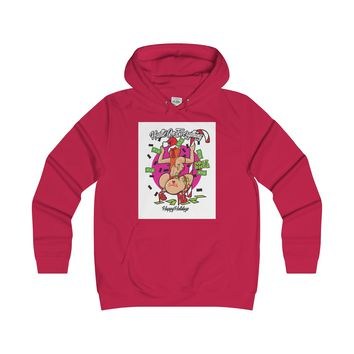 Christmas Hustle Girlie College Hoodie
