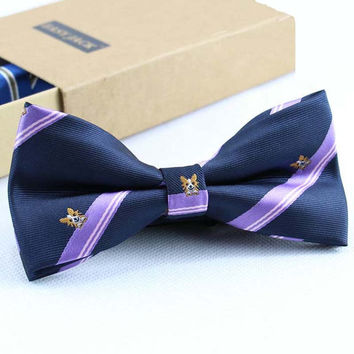 Luxury Men's Formal Commercial Gentleman Polyester Silk Bow Tie Butterfly Cravat Bowtie Animal Printing Wedding Prom Party Gift