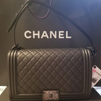 New In Box Chanel New Medium Black Le Boy Bag