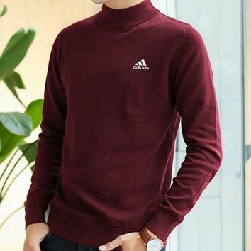 Adidas Women Men Fashion Casual Scoop Neck Long Sleeve Top Sweater Pullover