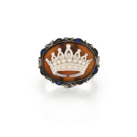 Amedeo Sapphire Crown Cameo Ring | Stone & Strand