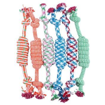 Dog funny Chew Knot Cotton Bone Rope