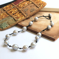 Necklace | Jewelry | Fine Jewelry | Pearls | Baroque Pearls | Graduated Necklace | Hand Knotted | Accessory | Baroque | Gray Lustre Pearls