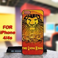 Hakuna Matata The Lion King For IPhone 4 or 4S Black Case Cover