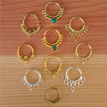 Assorted Septums For Pierced Nose - Body Jewelry - Septum Jewelry - Indian Nose Ring - Ethnic Septum - Septum Piercing - Nose Jewelry