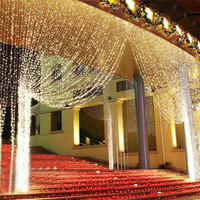 3M x 3M 300 LEDs Led String Home Window Curtain Garden Wedding Party Birthday Decoration Light Fairy Lights with EU US UK Plug