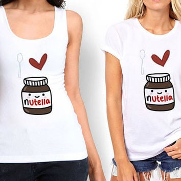 I Love Nutella Tank top , Tshirt ,T shirt For Women