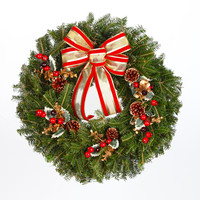 24 in. Traditional - Real, Live Fraser Fir Christmas Wreath (Fresh-Cut)
