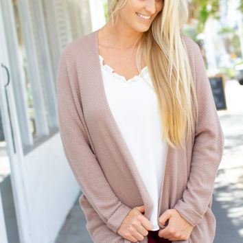 Dream Above Cardigan - Taupe